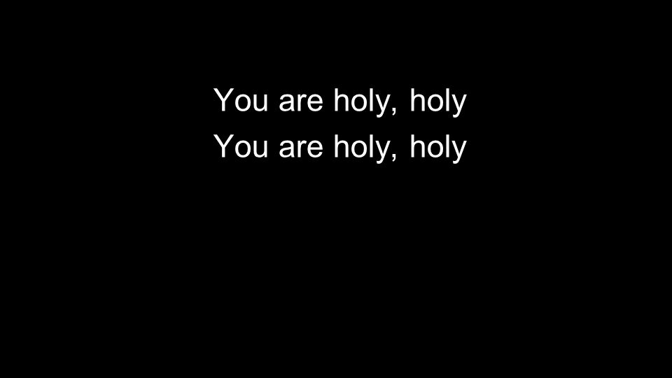 You are holy, holy