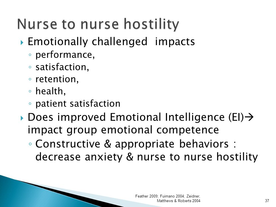 Nurse to nurse hostility
