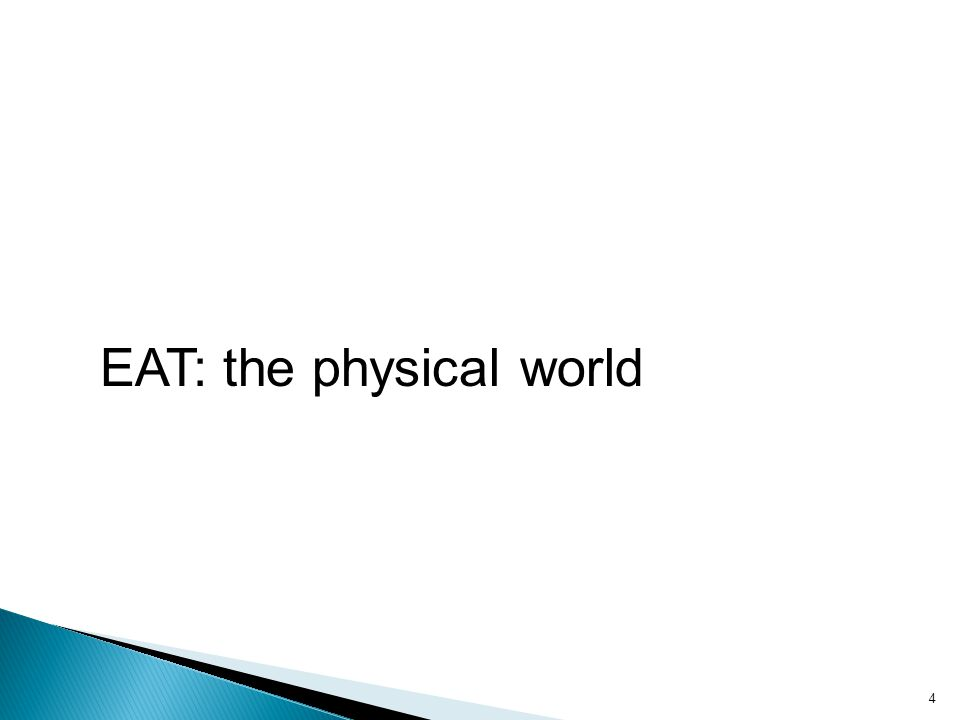 EAT: the physical world