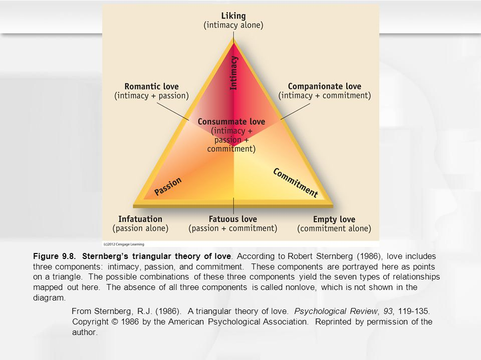 Figure 9. 8. Sternberg's triangular theory of love