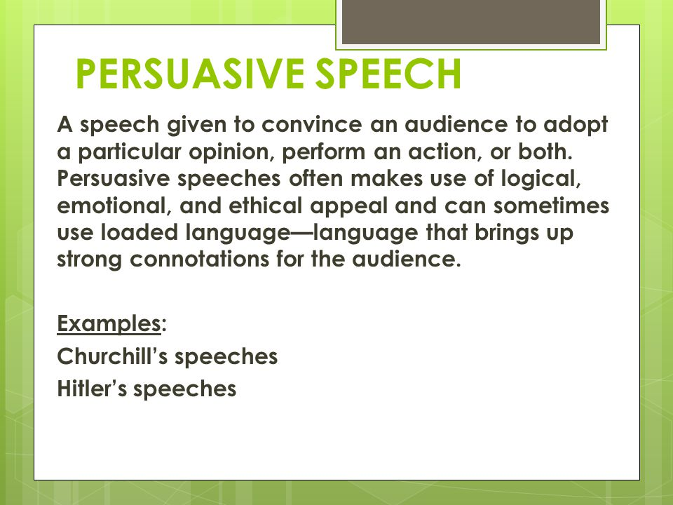 652 Good Persuasive Speech Topics