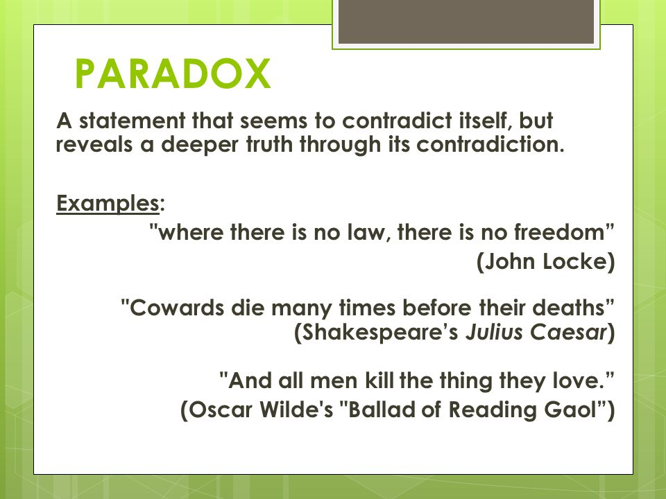 Paradoxes and contradictions presented in Macbeth