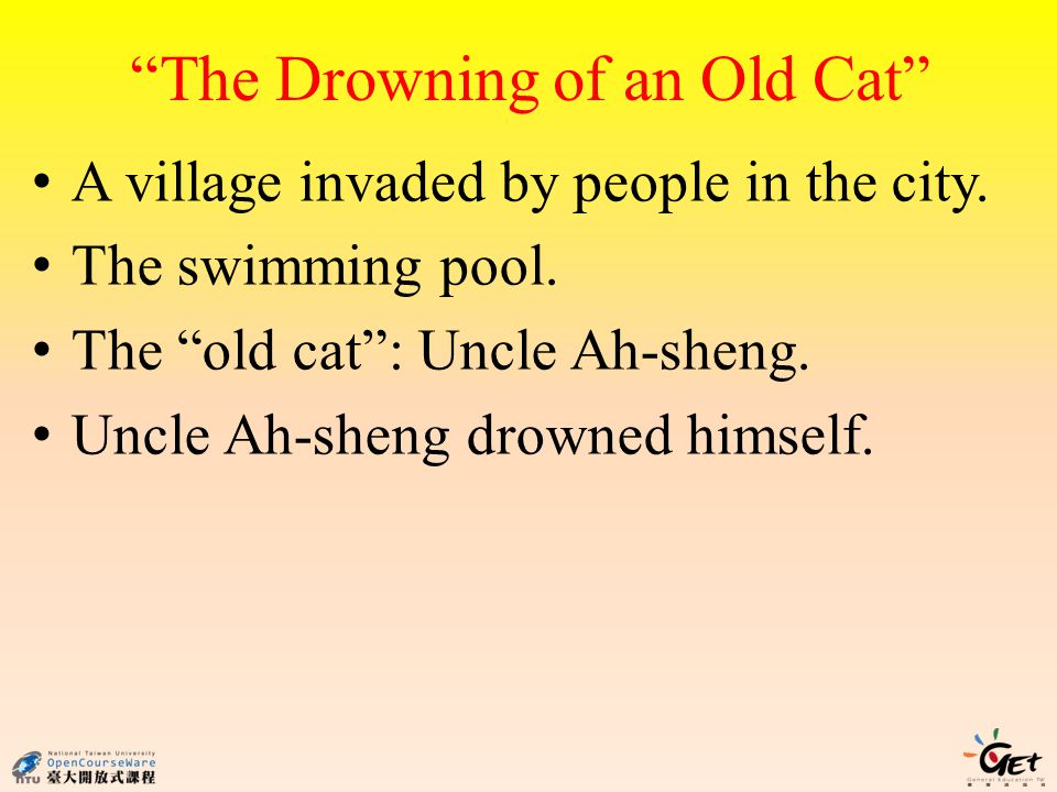 The Drowning of an Old Cat