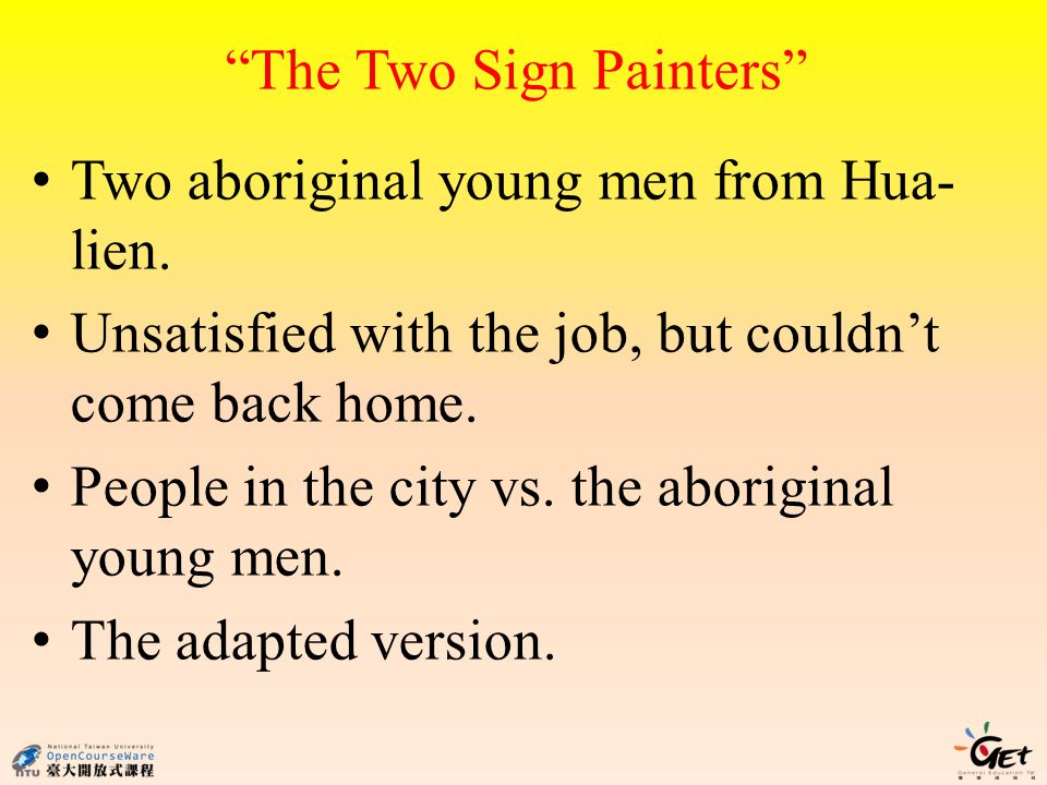The Two Sign Painters