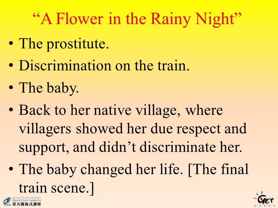 A Flower in the Rainy Night