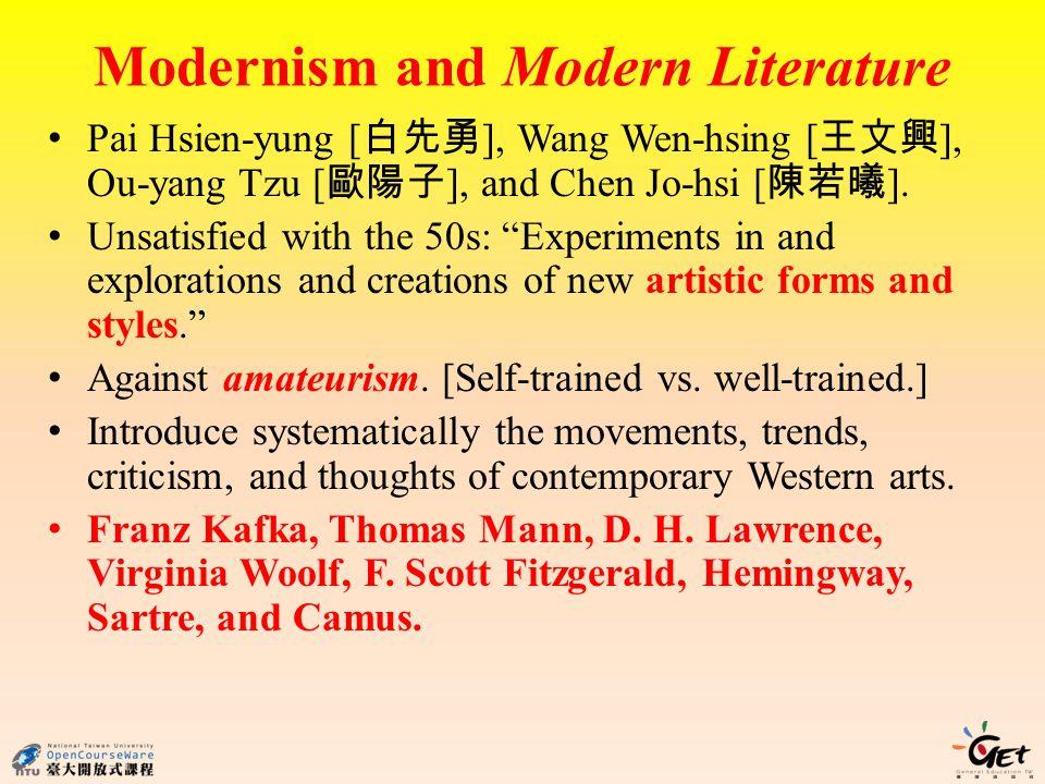Modernism and Modern Literature