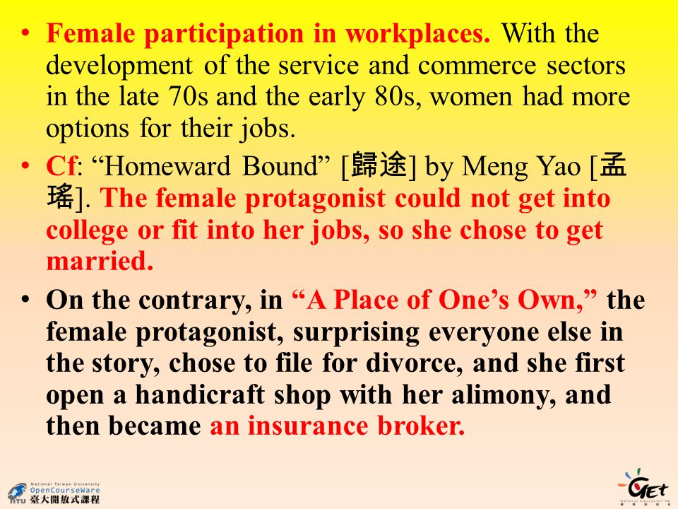 Female participation in workplaces