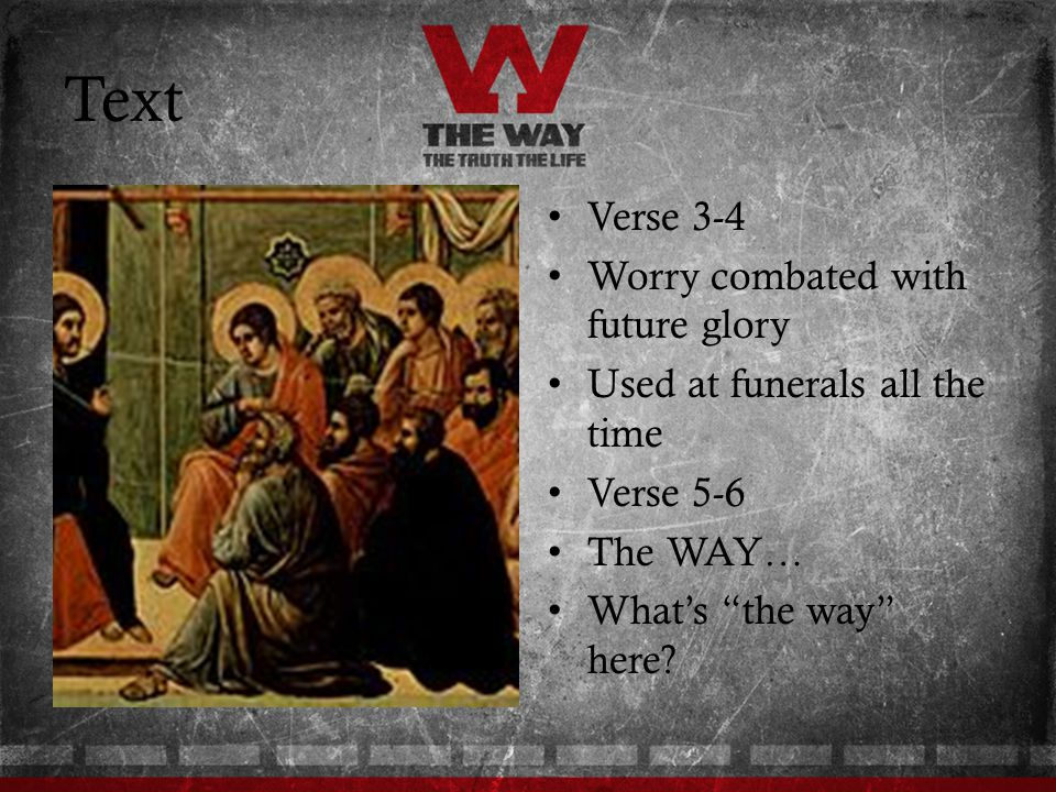 Text Verse 3-4 Worry combated with future glory