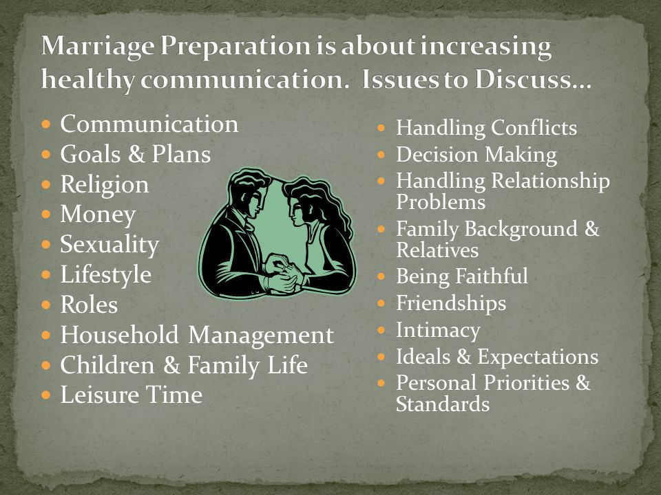 Marriage Preparation is about increasing healthy communication