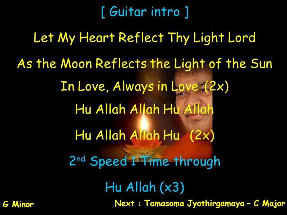 Let My Heart Reflect Thy Light Lord
