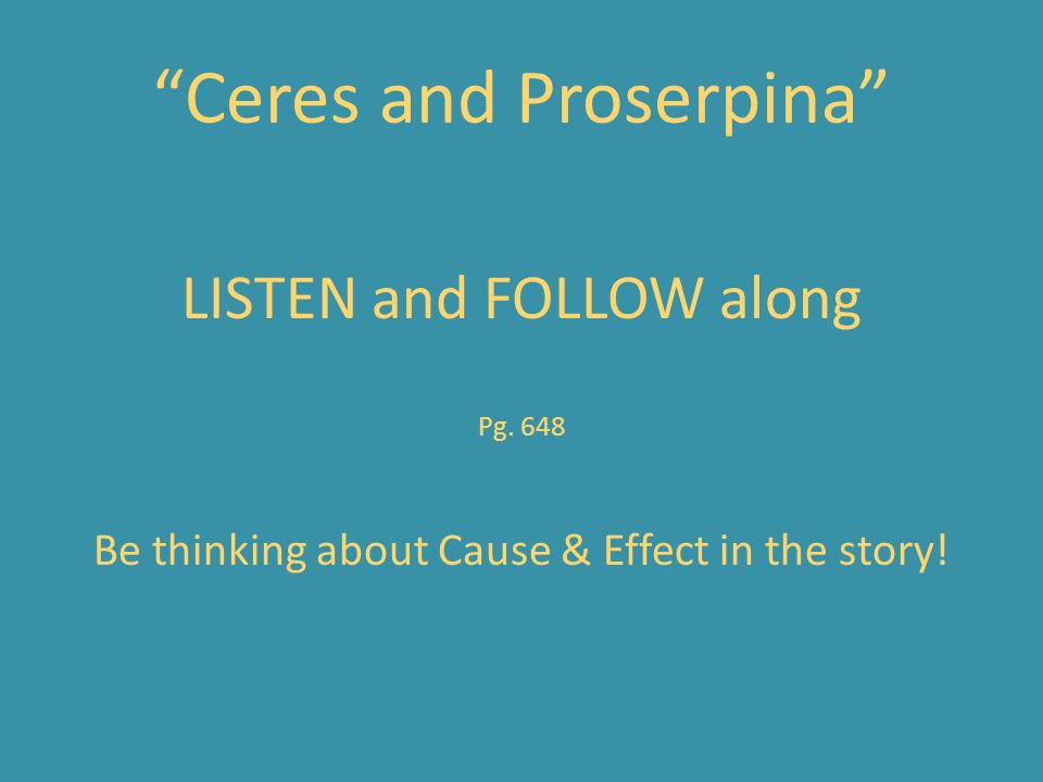 Ceres and Proserpina