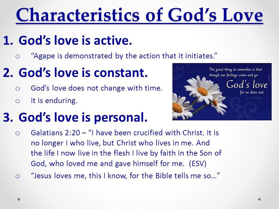 Characteristics of God's Love