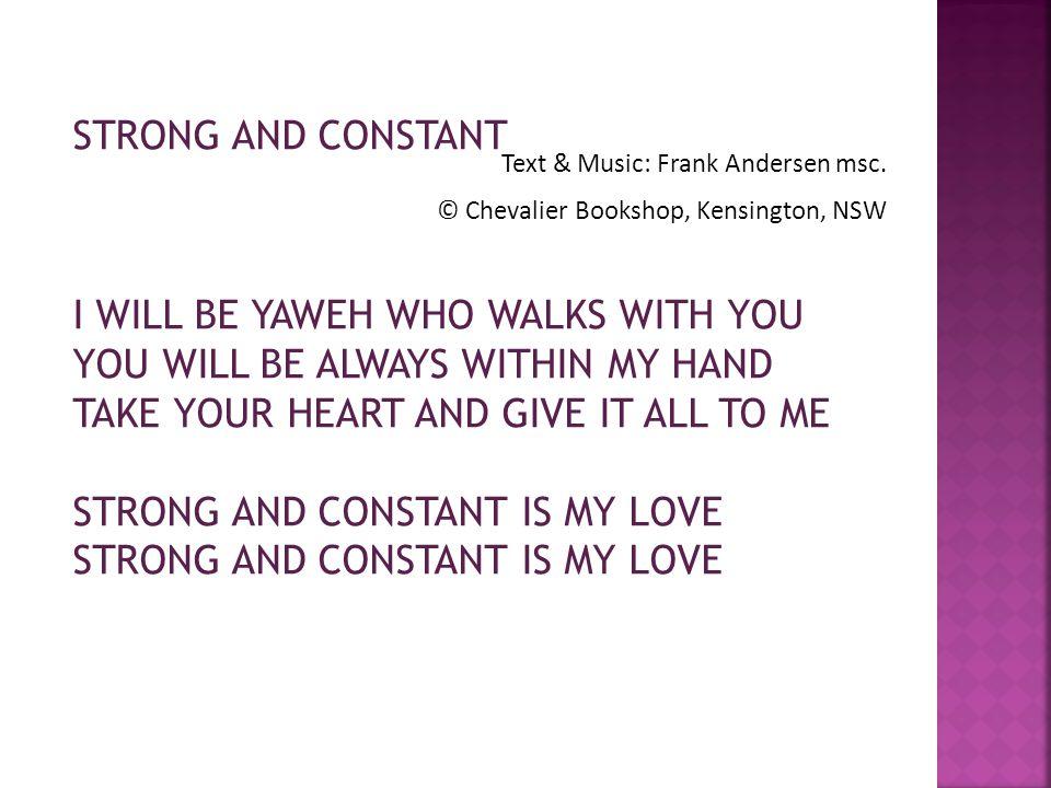 Text & Music: Frank Andersen msc.