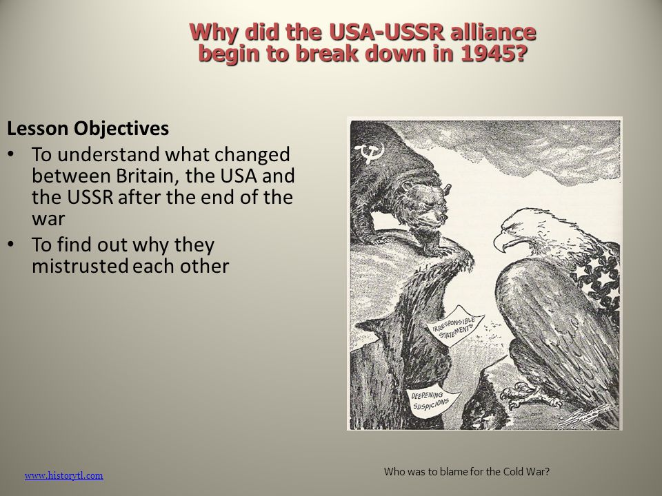 Why did the USA and USSR become enemies after WW2?