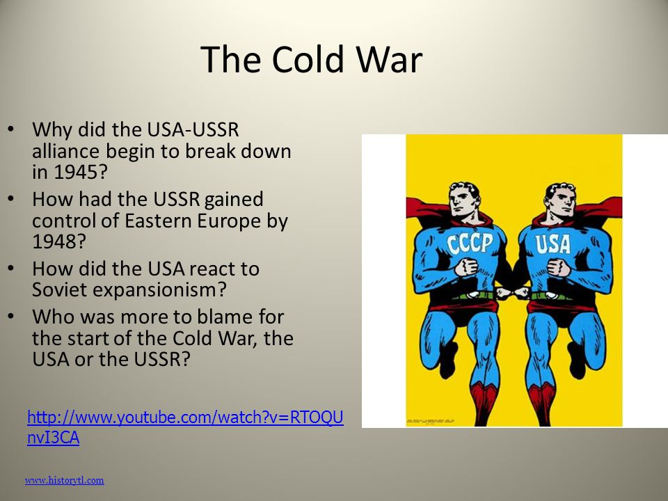 Who was more to blame for the cold war essay