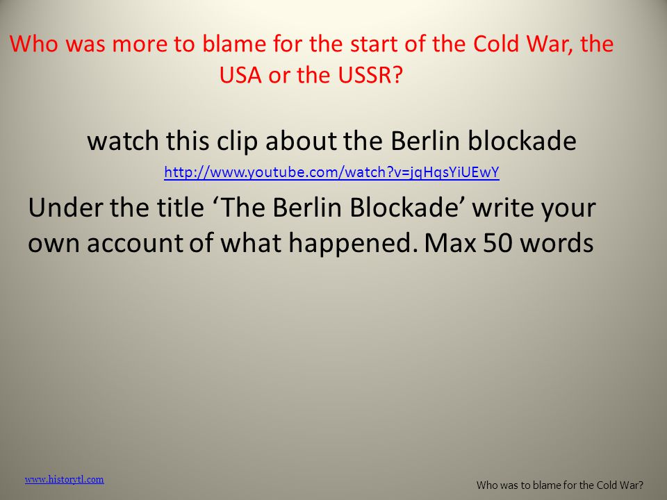 watch this clip about the Berlin blockade