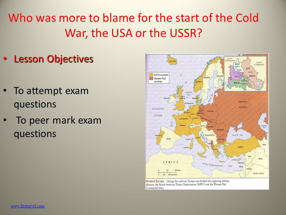 whos at fault for the cold war Each party has their own opinion on who was actually to blame for the cold war  traditionalists are historians who believe that the soviet union was to blame,.