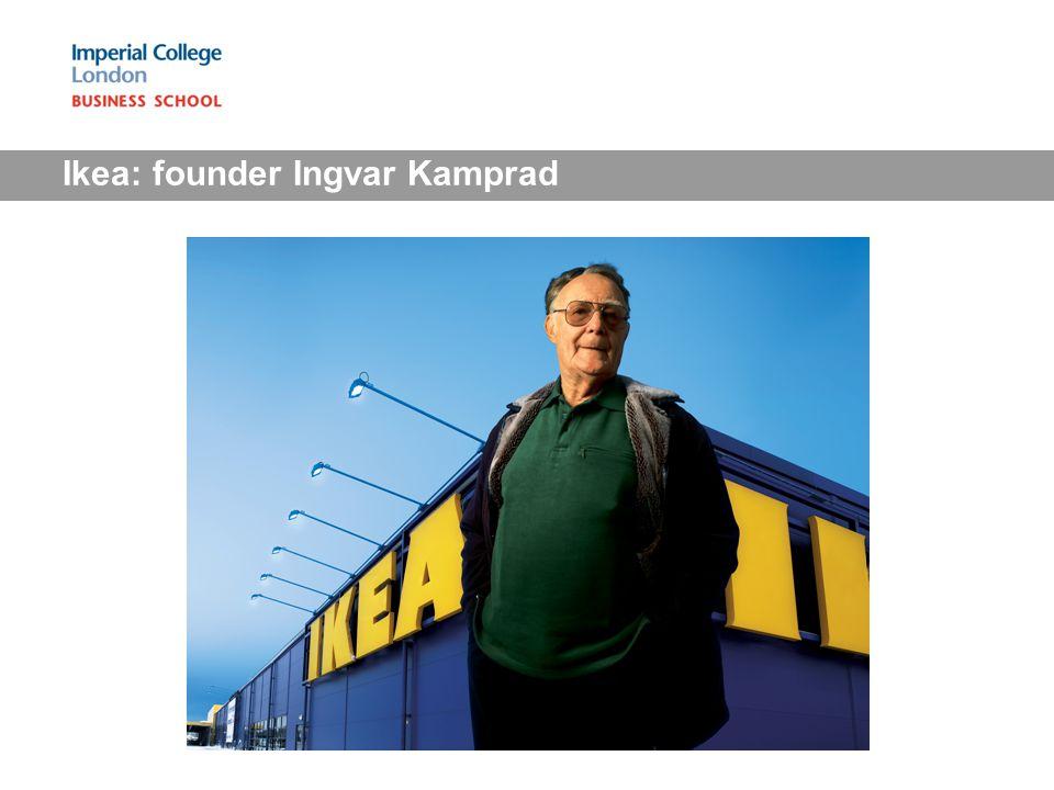 Ikea: founder Ingvar Kamprad
