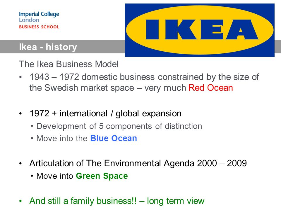 the ikea business model Business is good (see chart) in the fiscal year 2010, ikea's sales grew by 77% to €231 billion and net profit increased by 61% to €27 billion conforama, habitat and other rivals do not .
