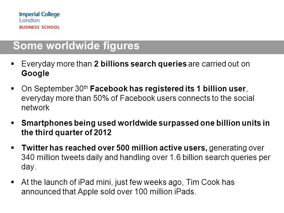 Some worldwide figures