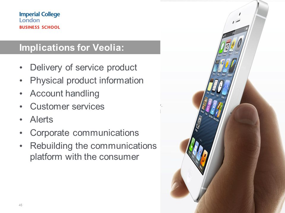 Implications for Veolia: