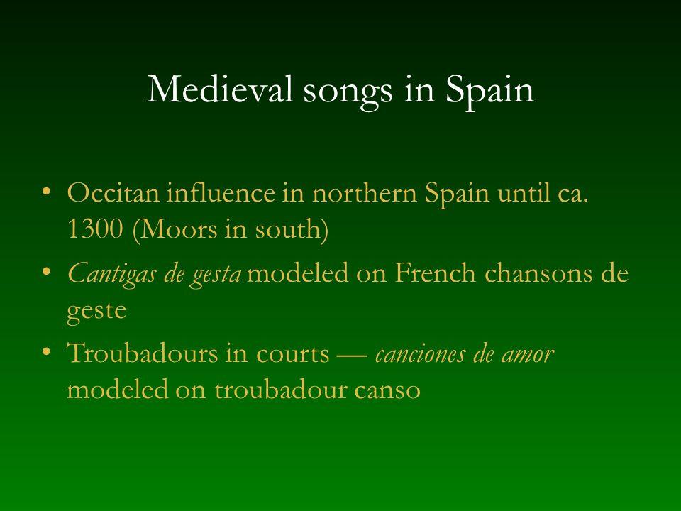 Medieval songs in Spain