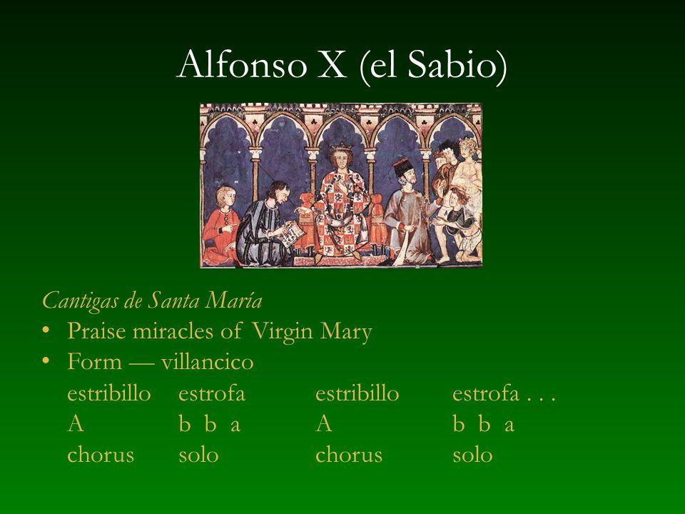 Alfonso X (el Sabio) Cantigas de Santa María