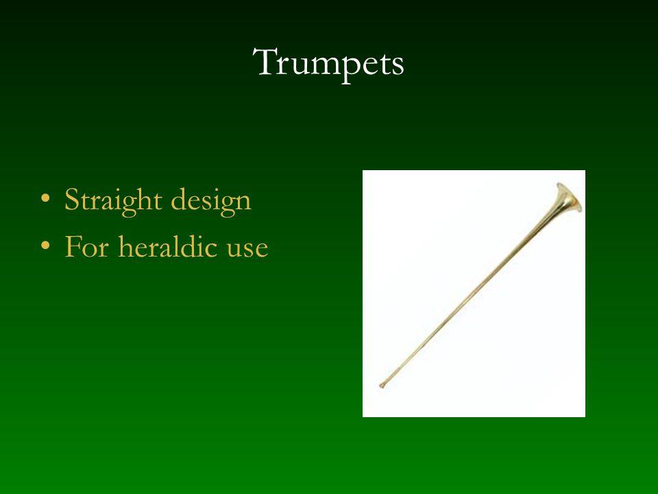 Trumpets Straight design For heraldic use