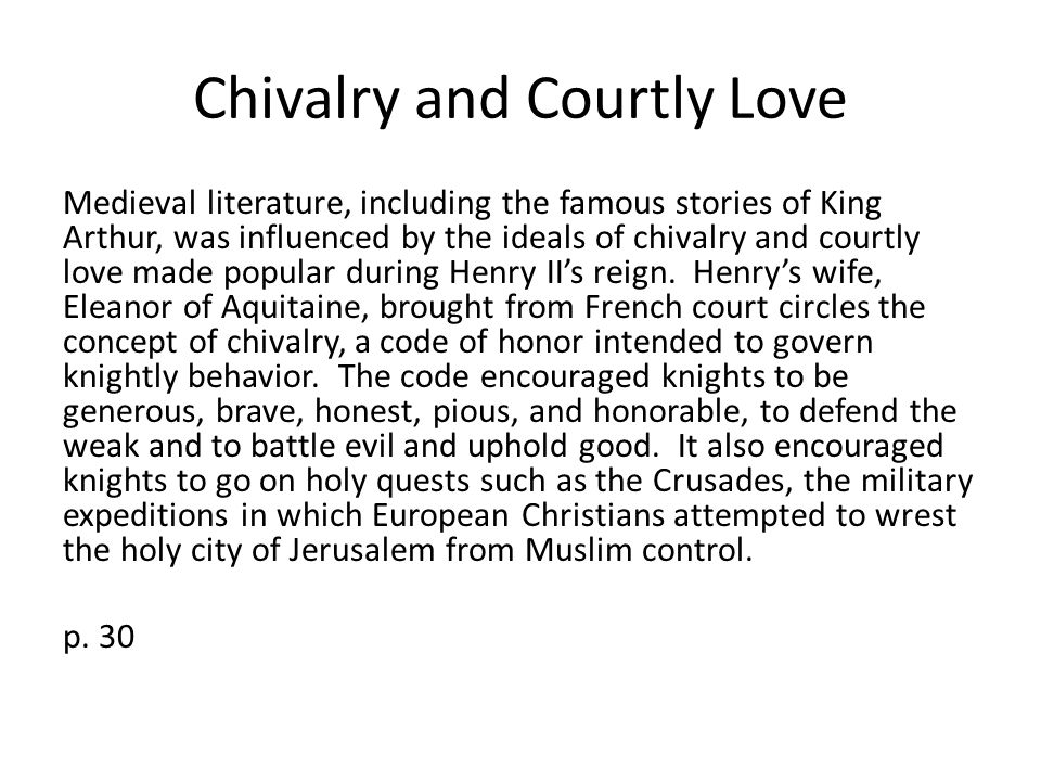 "excerpt from le morte d arthur and ""sir gawain and the green  chivalry and courtly love"