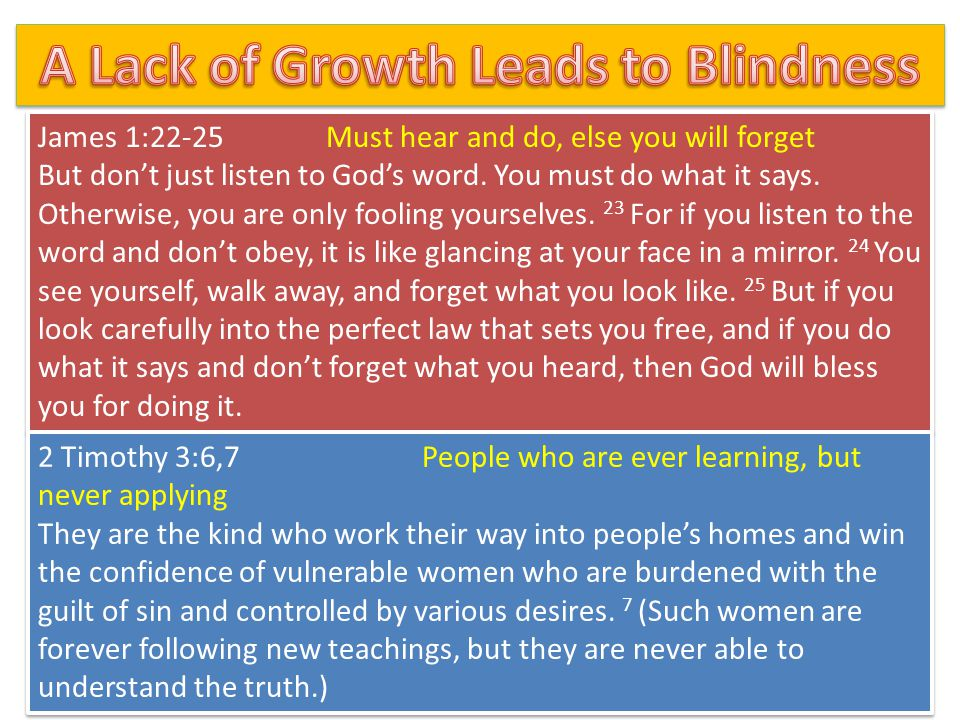 A Lack of Growth Leads to Blindness