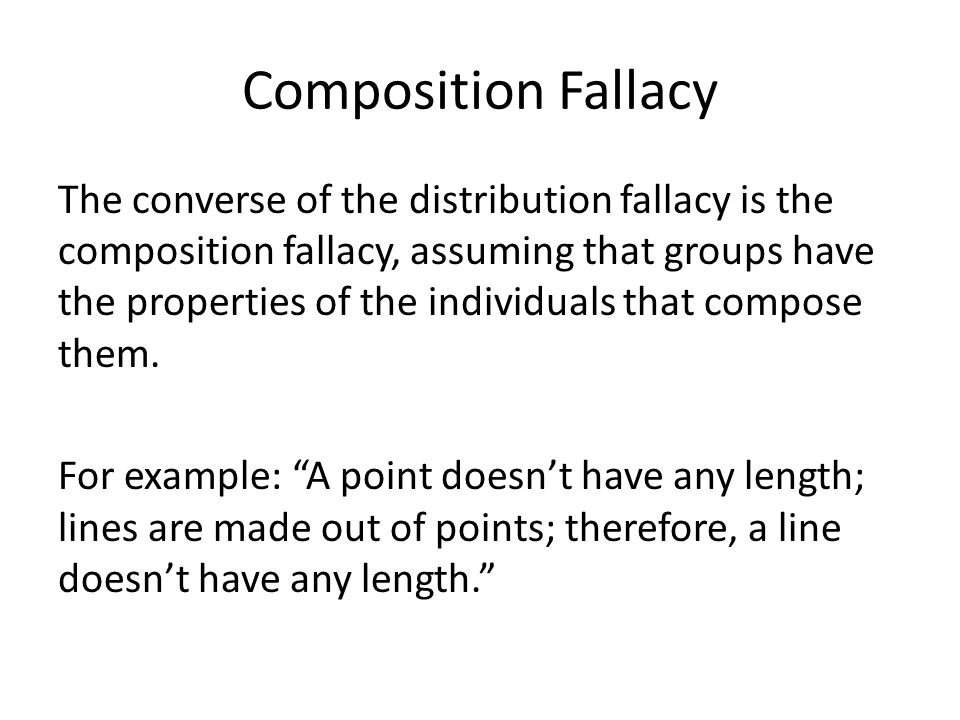 Composition Fallacy