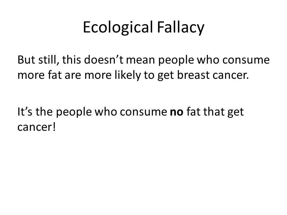 Ecological Fallacy