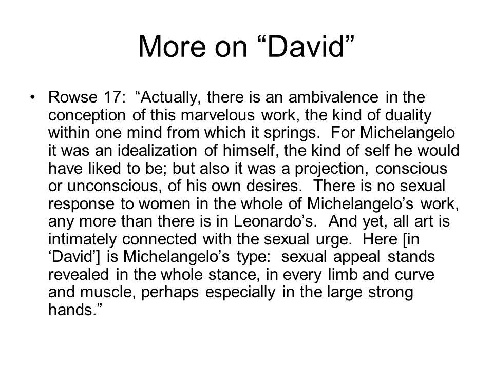 More on David