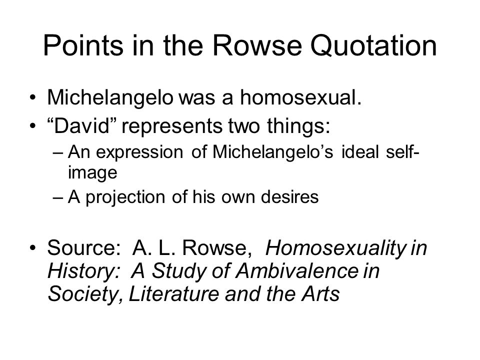 Points in the Rowse Quotation