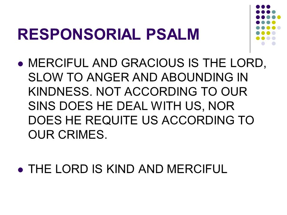 RESPONSORIAL PSALM