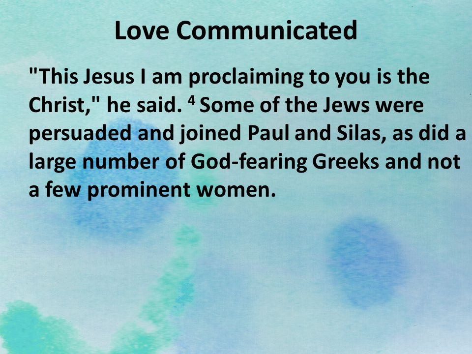Love Communicated