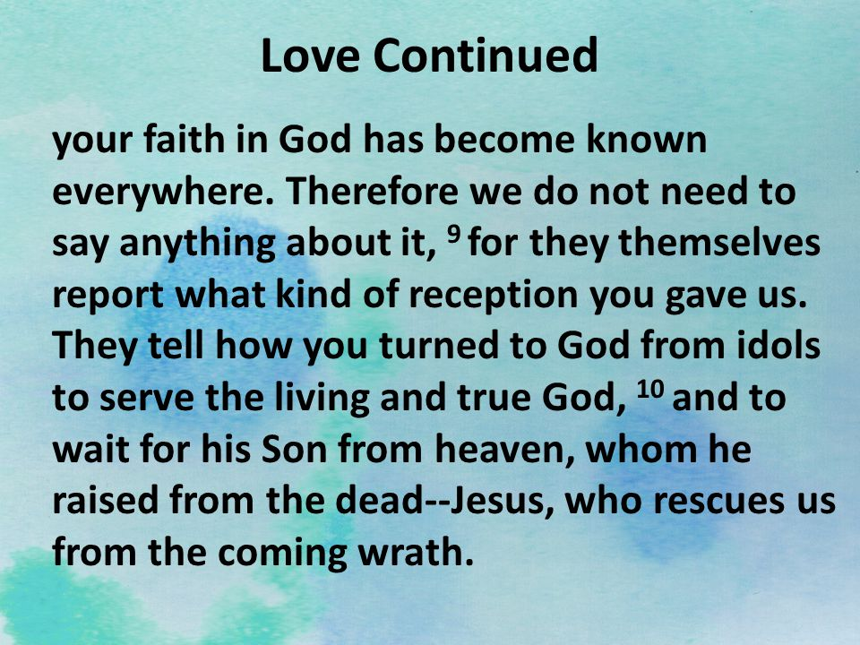 Love Continued