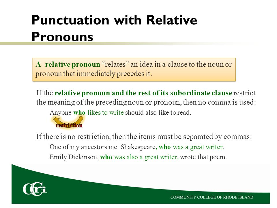 Punctuation with Relative Pronouns