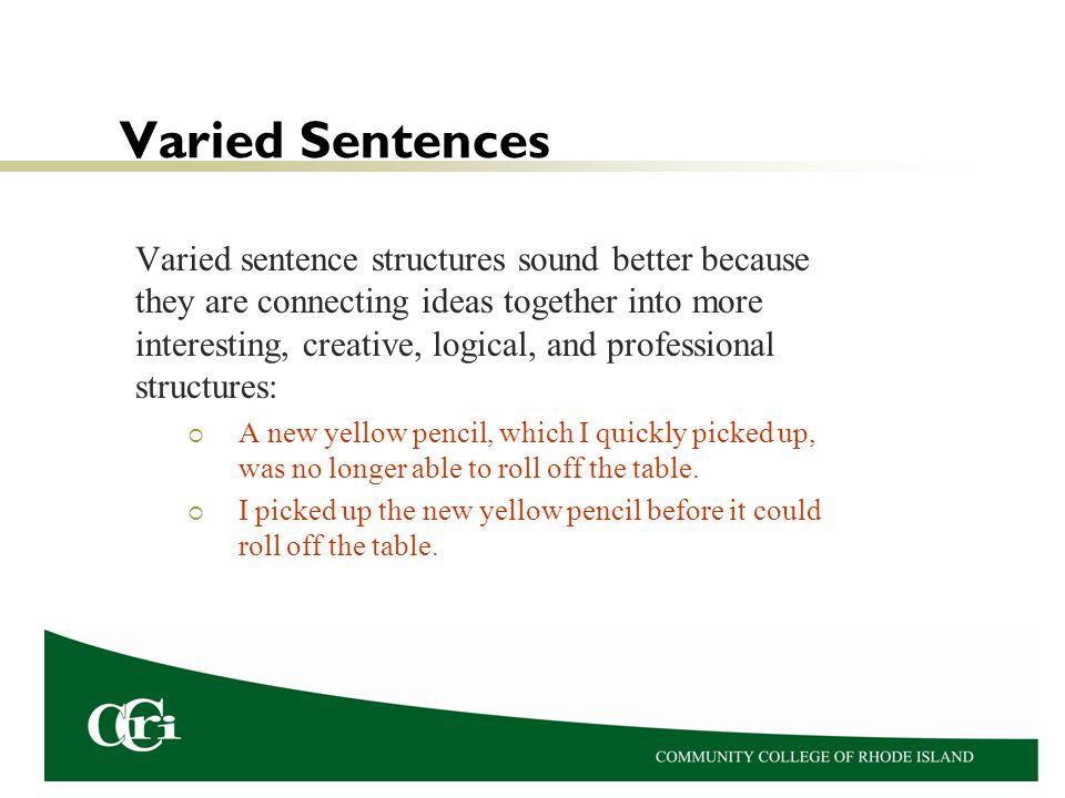 Varied Sentences