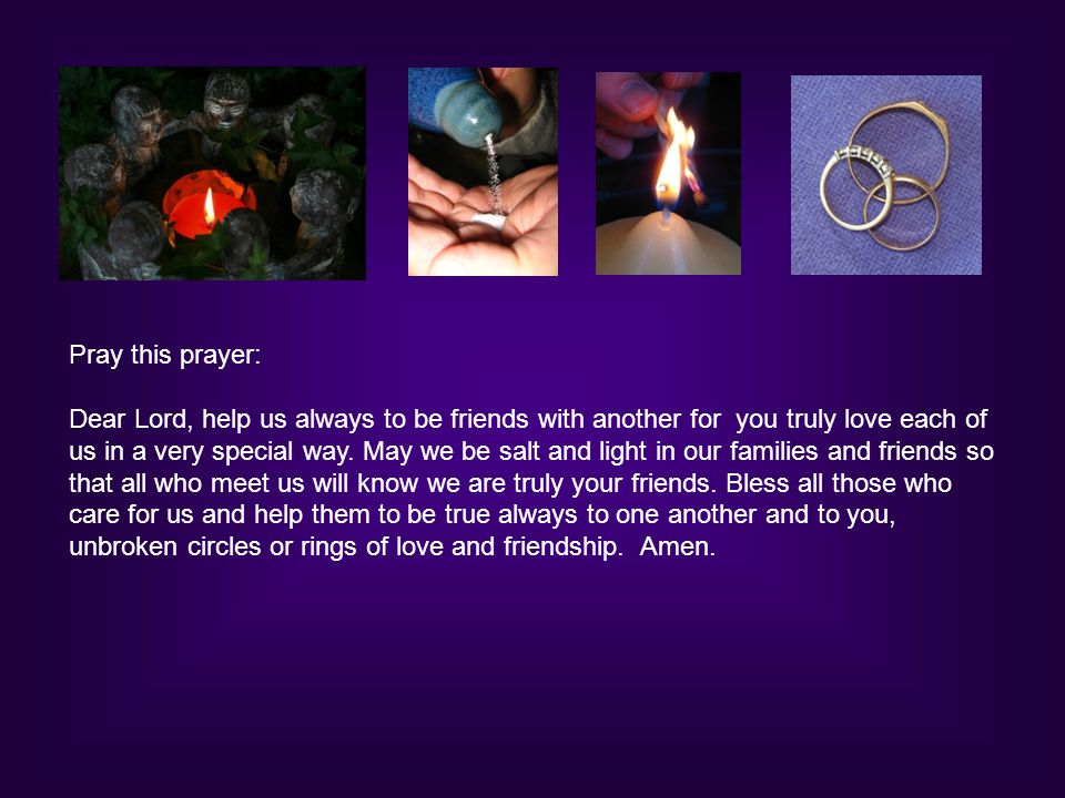 Pray this prayer: