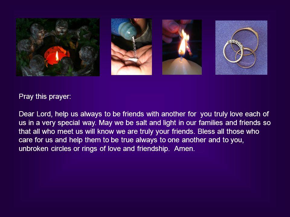 Pray this prayer: