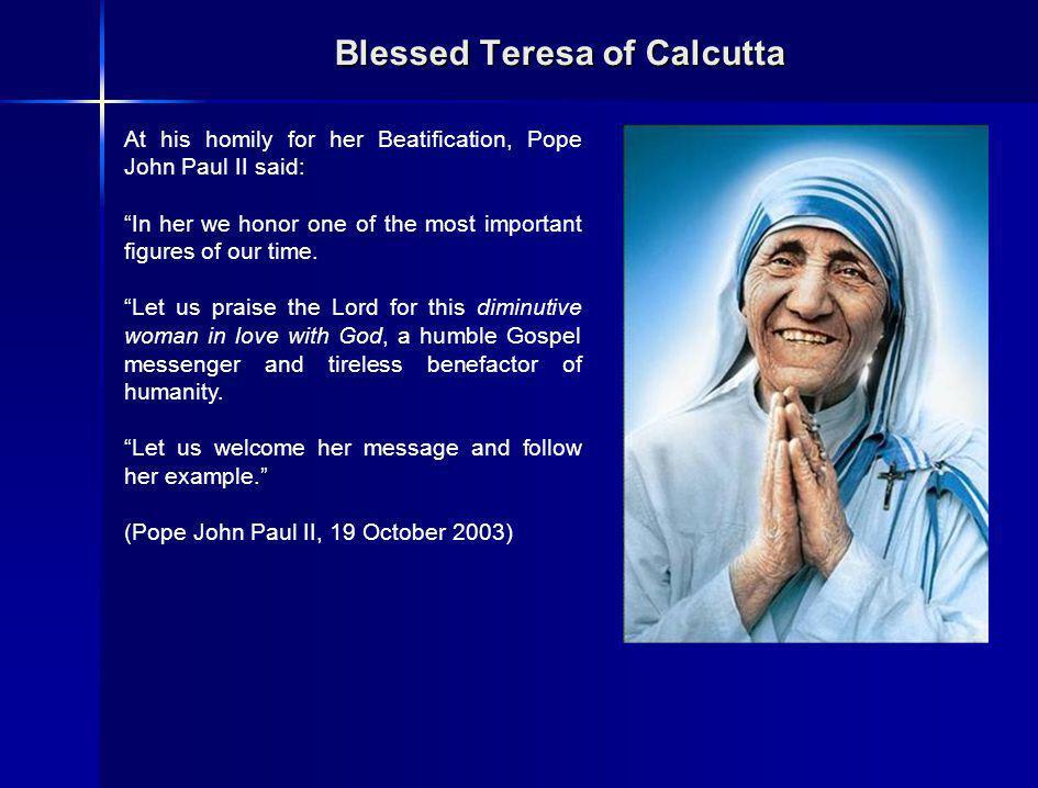 Blessed Teresa of Calcutta