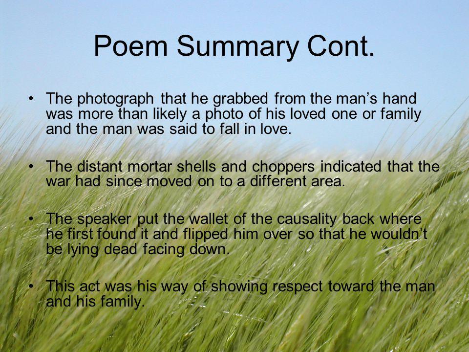 Poem Summary Cont.
