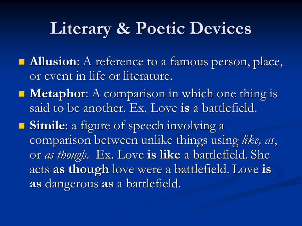 Literary & Poetic Devices