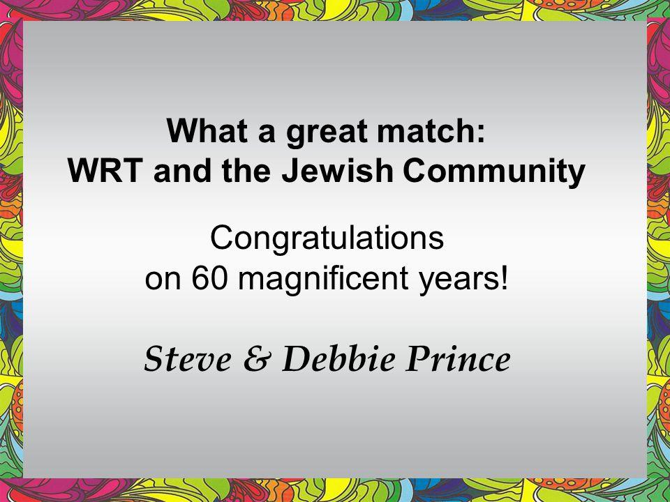 WRT and the Jewish Community