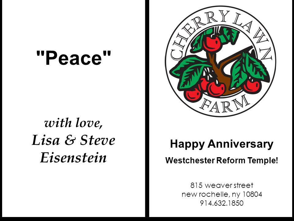Lisa & Steve Eisenstein Westchester Reform Temple!