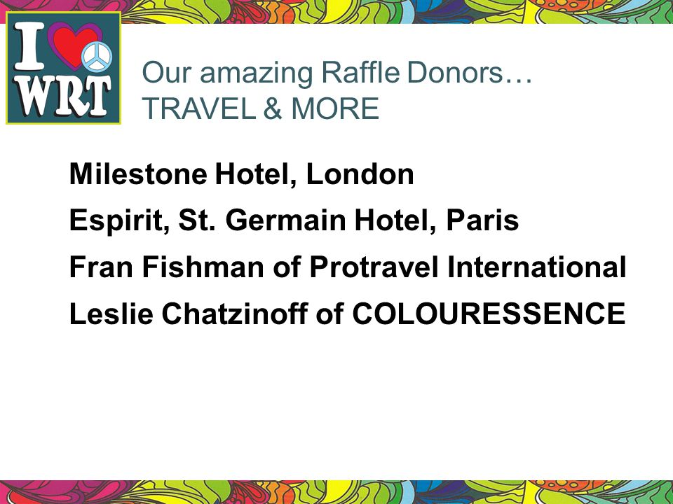 Our amazing Raffle Donors…