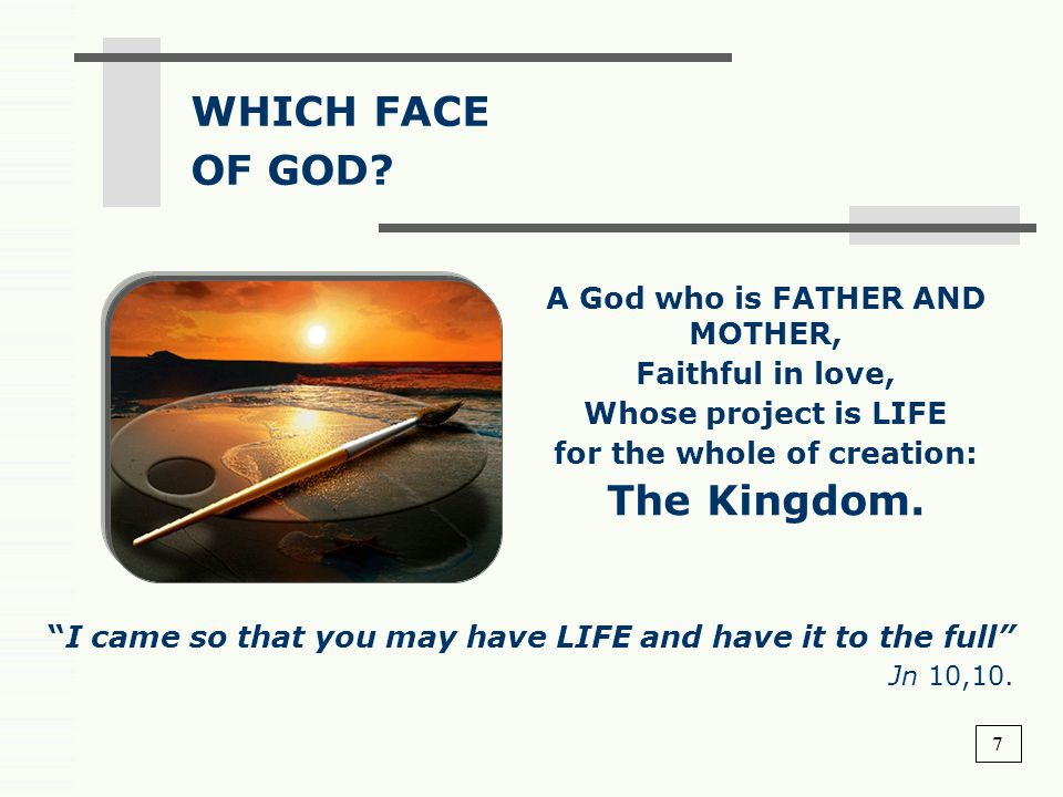 A God who is FATHER AND MOTHER, for the whole of creation: