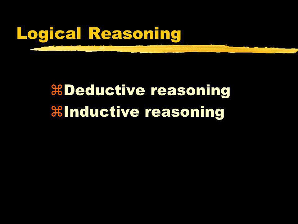 Logical Reasoning Deductive reasoning Inductive reasoning