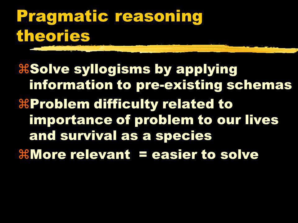 Pragmatic reasoning theories